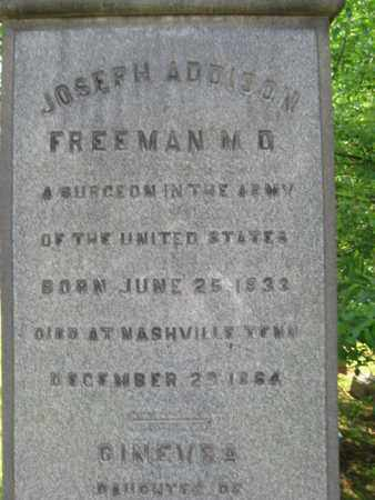FREEMAN, JOSEPH ADDISON - Essex County, New Jersey | JOSEPH ADDISON FREEMAN - New Jersey Gravestone Photos