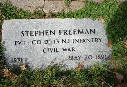 FREEMAN, STEPHEN - Essex County, New Jersey   STEPHEN FREEMAN - New Jersey Gravestone Photos