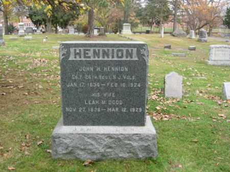 HENNION, JOHN H. - Essex County, New Jersey   JOHN H. HENNION - New Jersey Gravestone Photos