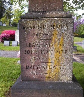 HEWITT, ABRAM - Essex County, New Jersey | ABRAM HEWITT - New Jersey Gravestone Photos