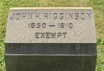 HIGGINSON, JOHN H. - Essex County, New Jersey   JOHN H. HIGGINSON - New Jersey Gravestone Photos