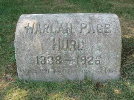 HURD, HARLAN PAGE - Essex County, New Jersey | HARLAN PAGE HURD - New Jersey Gravestone Photos