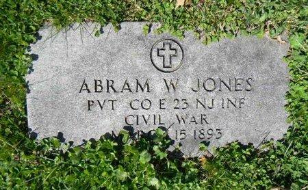 JONES, ABRAM W. - Essex County, New Jersey   ABRAM W. JONES - New Jersey Gravestone Photos