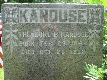 KANOUSE, THEODORE B. - Essex County, New Jersey | THEODORE B. KANOUSE - New Jersey Gravestone Photos