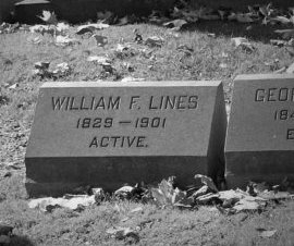 LINES, WILLIAM F. - Essex County, New Jersey | WILLIAM F. LINES - New Jersey Gravestone Photos