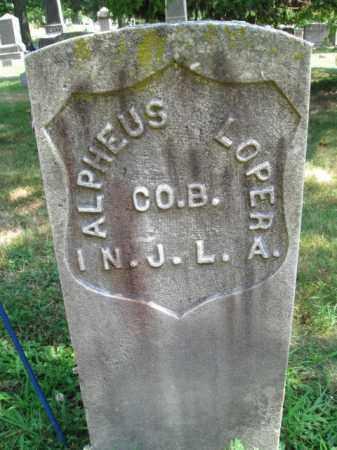 LOPER, ALPHEUS - Essex County, New Jersey | ALPHEUS LOPER - New Jersey Gravestone Photos