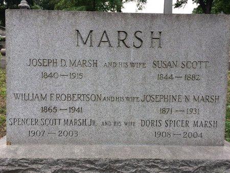 MARSH, JOSEPH D. - Essex County, New Jersey   JOSEPH D. MARSH - New Jersey Gravestone Photos