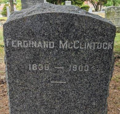 MCCLINTOCK, FERDINAND - Essex County, New Jersey   FERDINAND MCCLINTOCK - New Jersey Gravestone Photos