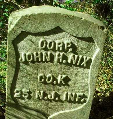 NIX, JOHN H. - Essex County, New Jersey   JOHN H. NIX - New Jersey Gravestone Photos