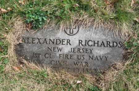 RICHARDS, ALEXANDER - Essex County, New Jersey | ALEXANDER RICHARDS - New Jersey Gravestone Photos