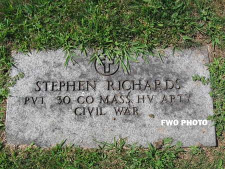 RICHARDS, STEPHEN - Essex County, New Jersey | STEPHEN RICHARDS - New Jersey Gravestone Photos