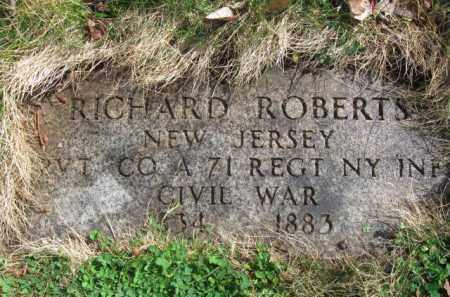 ROBERTS, RICHARD - Essex County, New Jersey   RICHARD ROBERTS - New Jersey Gravestone Photos