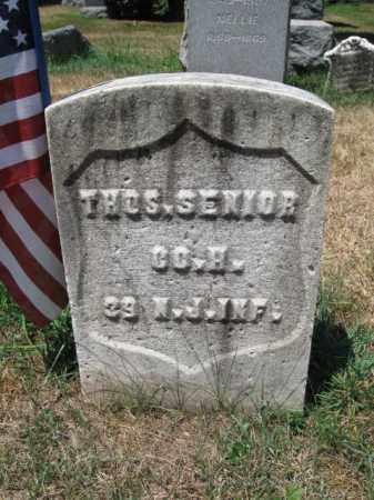 SENIOR, THOMAS - Essex County, New Jersey   THOMAS SENIOR - New Jersey Gravestone Photos