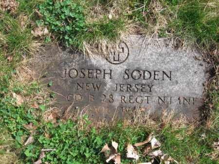SODEN, JOSEPH - Essex County, New Jersey | JOSEPH SODEN - New Jersey Gravestone Photos