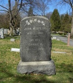 SPEAR, JOHN W. - Essex County, New Jersey   JOHN W. SPEAR - New Jersey Gravestone Photos