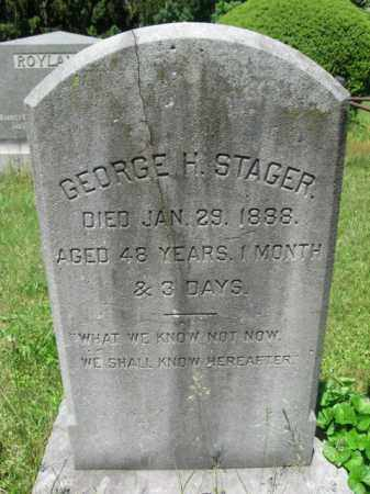 STAGER, GEORGE H. - Essex County, New Jersey | GEORGE H. STAGER - New Jersey Gravestone Photos