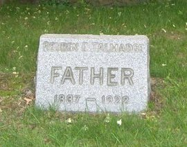 TALMADGE, REUBEN E. - Essex County, New Jersey | REUBEN E. TALMADGE - New Jersey Gravestone Photos
