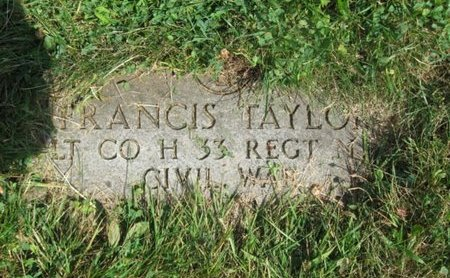 TAYLOR, FRANCIS - Essex County, New Jersey | FRANCIS TAYLOR - New Jersey Gravestone Photos