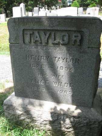 TAYLOR, HENRY - Essex County, New Jersey | HENRY TAYLOR - New Jersey Gravestone Photos