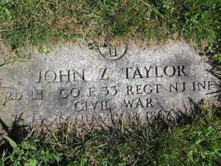 TAYLOR, JOHN Z. - Essex County, New Jersey   JOHN Z. TAYLOR - New Jersey Gravestone Photos
