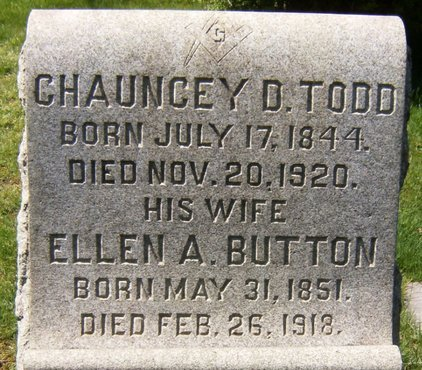 TODD, CHAUNCEY D. - Essex County, New Jersey | CHAUNCEY D. TODD - New Jersey Gravestone Photos