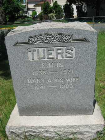 TUERS, SIMON - Essex County, New Jersey   SIMON TUERS - New Jersey Gravestone Photos