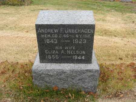 UNBEHAGEN, ANDREW F. - Essex County, New Jersey   ANDREW F. UNBEHAGEN - New Jersey Gravestone Photos