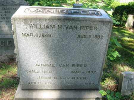 VAN RIPER, WILLIAM H. - Essex County, New Jersey   WILLIAM H. VAN RIPER - New Jersey Gravestone Photos
