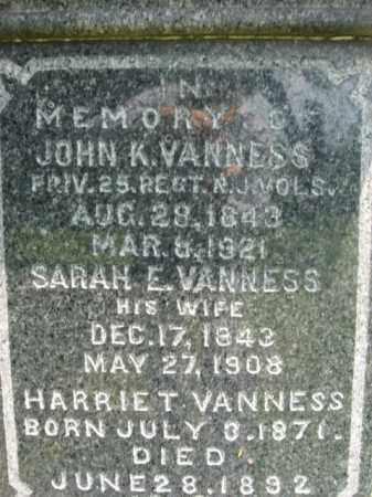 VANNESS, JOHN K. - Essex County, New Jersey   JOHN K. VANNESS - New Jersey Gravestone Photos