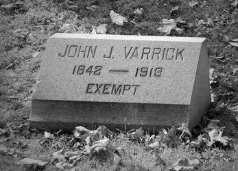 VARRICK (VARICK), JOHN J. - Essex County, New Jersey | JOHN J. VARRICK (VARICK) - New Jersey Gravestone Photos