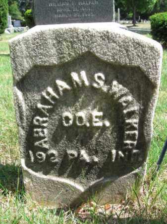 WALKER, ABRAHAM (ABRAM) S. - Essex County, New Jersey | ABRAHAM (ABRAM) S. WALKER - New Jersey Gravestone Photos