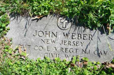 WEBER, JOHN - Essex County, New Jersey | JOHN WEBER - New Jersey Gravestone Photos