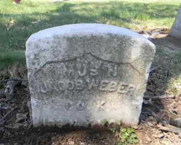 WEBER, JACOB - Essex County, New Jersey | JACOB WEBER - New Jersey Gravestone Photos
