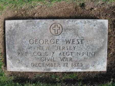 WEST, GEORGE - Essex County, New Jersey | GEORGE WEST - New Jersey Gravestone Photos
