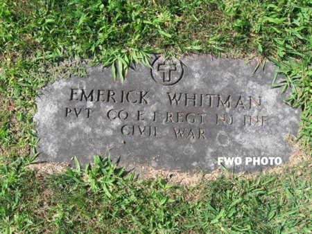 WHITMAN (WITTMAN), EMERICK - Essex County, New Jersey   EMERICK WHITMAN (WITTMAN) - New Jersey Gravestone Photos