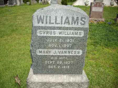 WILLIAMS, CYRUS - Essex County, New Jersey | CYRUS WILLIAMS - New Jersey Gravestone Photos