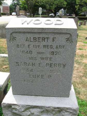 WOOD, ALBERT F. - Essex County, New Jersey   ALBERT F. WOOD - New Jersey Gravestone Photos