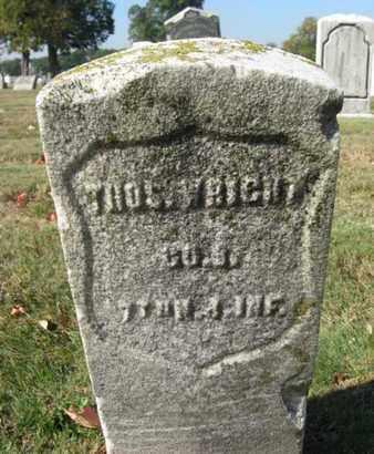 WRIGHT, THOMAS - Essex County, New Jersey | THOMAS WRIGHT - New Jersey Gravestone Photos