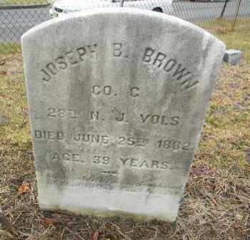 BROWN, JOSEPH B. - Gloucester County, New Jersey | JOSEPH B. BROWN - New Jersey Gravestone Photos