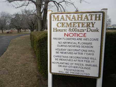CEMETERY SIGN, MANAHATH - Gloucester County, New Jersey   MANAHATH CEMETERY SIGN - New Jersey Gravestone Photos