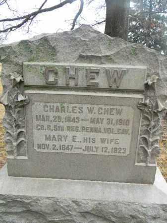 CHEW, CHARLES W. - Gloucester County, New Jersey | CHARLES W. CHEW - New Jersey Gravestone Photos