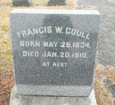 COULL, FRANCIS W. - Gloucester County, New Jersey   FRANCIS W. COULL - New Jersey Gravestone Photos