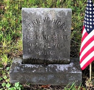 HICKS, JOHN W. - Gloucester County, New Jersey   JOHN W. HICKS - New Jersey Gravestone Photos
