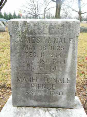 NALE, JAMES W. - Gloucester County, New Jersey | JAMES W. NALE - New Jersey Gravestone Photos