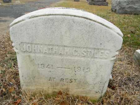 STILES, JONATHAN C. (E) - Gloucester County, New Jersey   JONATHAN C. (E) STILES - New Jersey Gravestone Photos