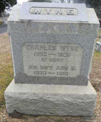WYNE, CHARLES - Gloucester County, New Jersey   CHARLES WYNE - New Jersey Gravestone Photos