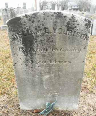 YOURISON (YOURNSON), WILLIAM D. - Gloucester County, New Jersey | WILLIAM D. YOURISON (YOURNSON) - New Jersey Gravestone Photos