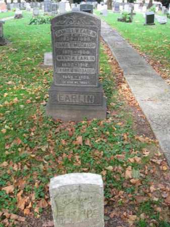 EARLIN, SAMUEL H. - Hudson County, New Jersey | SAMUEL H. EARLIN - New Jersey Gravestone Photos