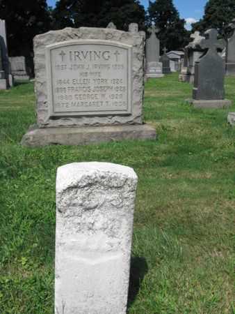 IRVING, JOHN J. - Hudson County, New Jersey   JOHN J. IRVING - New Jersey Gravestone Photos
