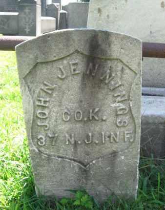 JENNINGS, JOHN - Hudson County, New Jersey | JOHN JENNINGS - New Jersey Gravestone Photos